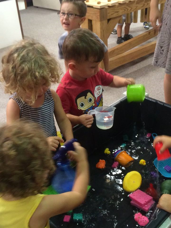 Toddler group at play and learn event
