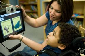 Assistive Technology Teacher with Student